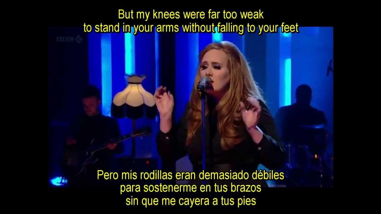 Adele-Set Fire To The Rain-Subtitulada Traducida Español Inglés Lyrics Live