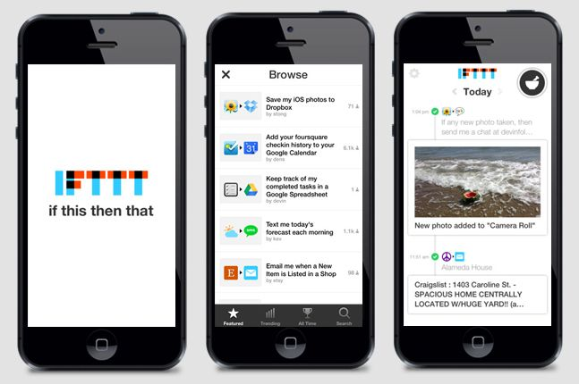 IFTTT App for the Iphone