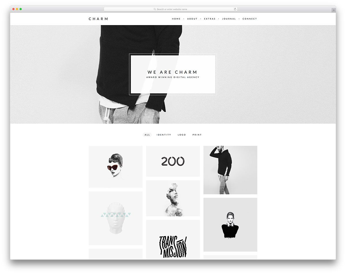 charm-simple-portfolio-website-template | Web Design | Pinterest ...