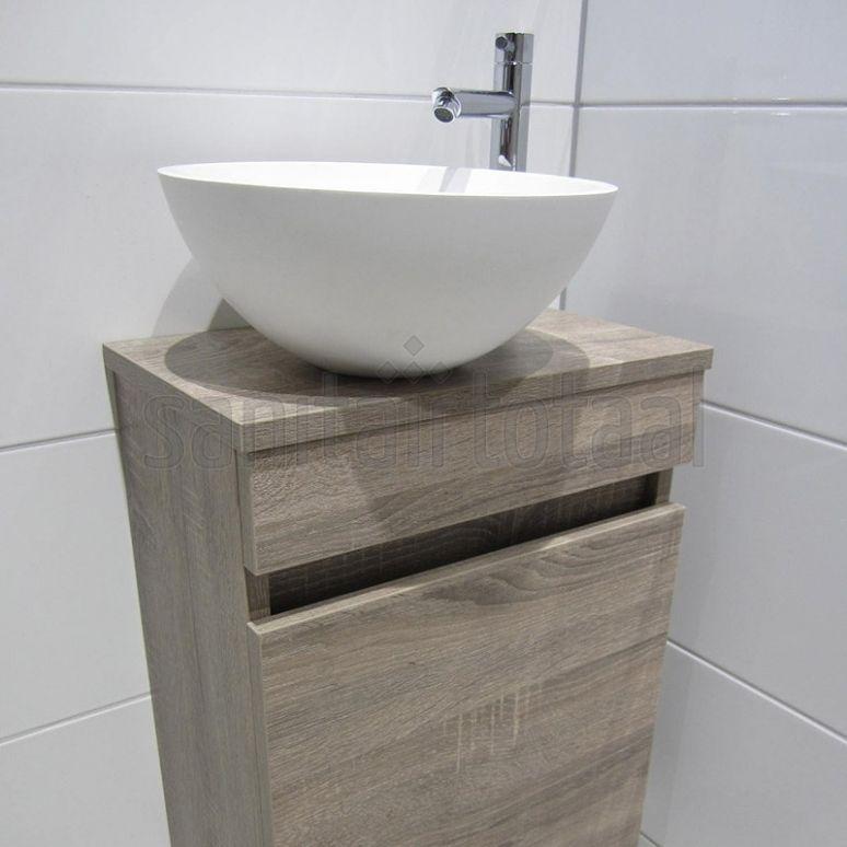 Landelijk badkamermeubel, hout, steigerhout meubel badkamer, waskommen, badkamer tegels