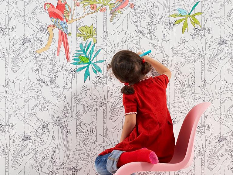 Neue Muster Fr Die Tapete Mit Dschungelmotiv Zum Selbstausmalen Jungle Von Liebling Berlin