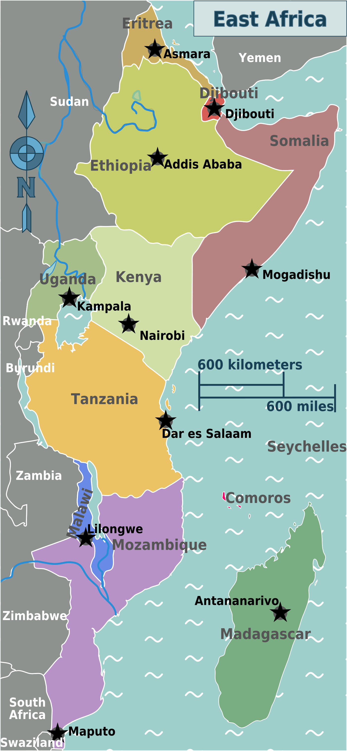 East Africa Regions Map   Mapsof.| Memorial Kingdom in 2019