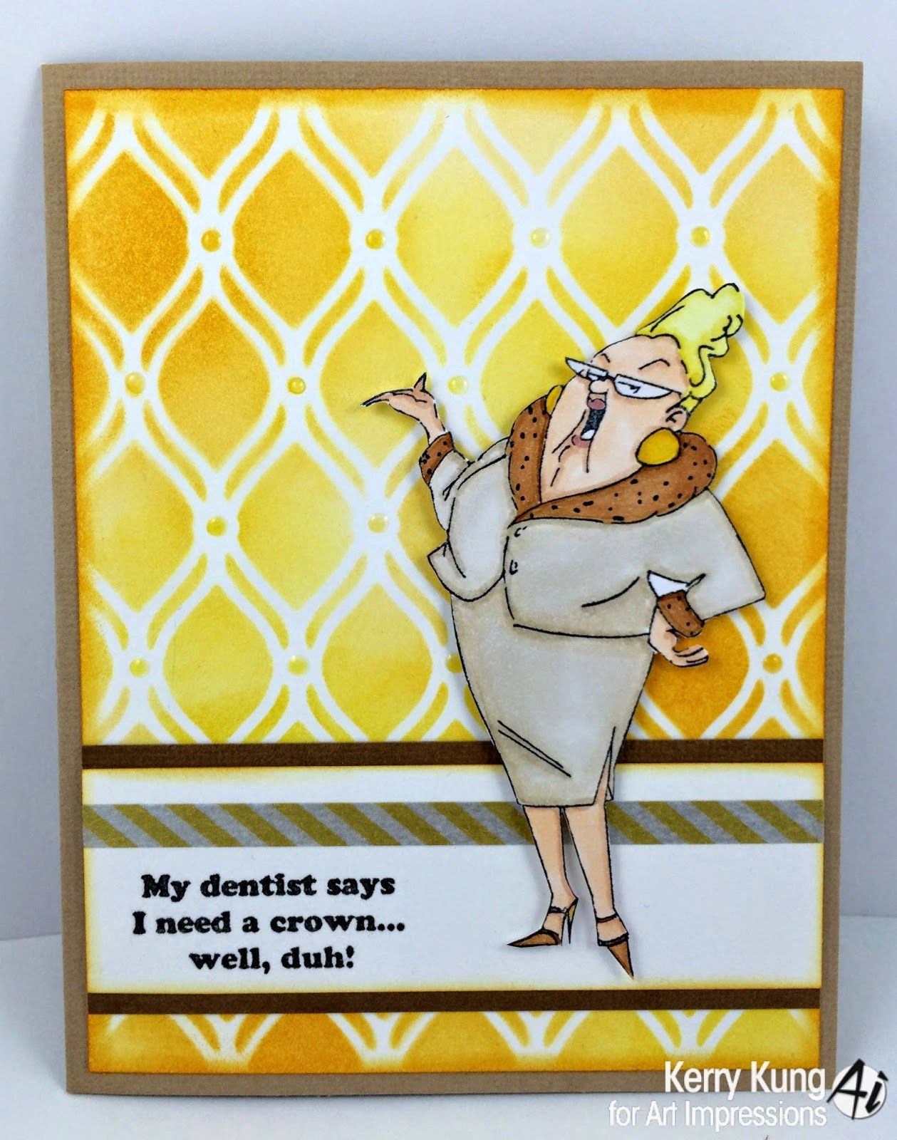 Art impressions rubber stamps seniors humor pinterest art