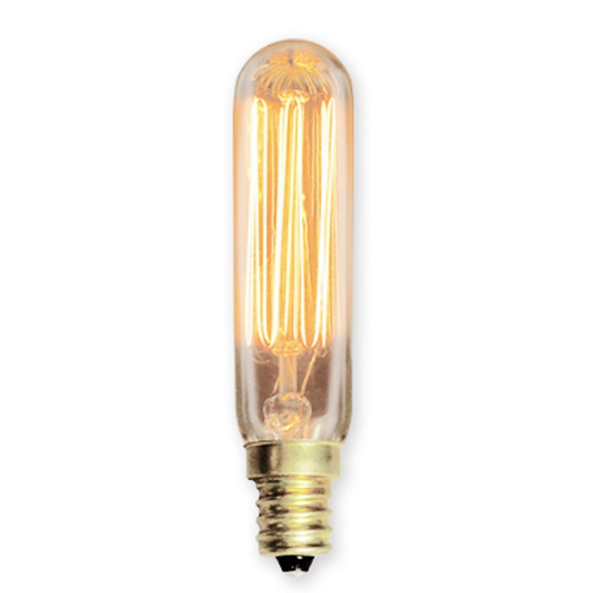 25 Watt Mini Tubular Vintage Edison Bulb Candle Base Vintage Edison Bulbs Candle Base Antique Light Bulbs