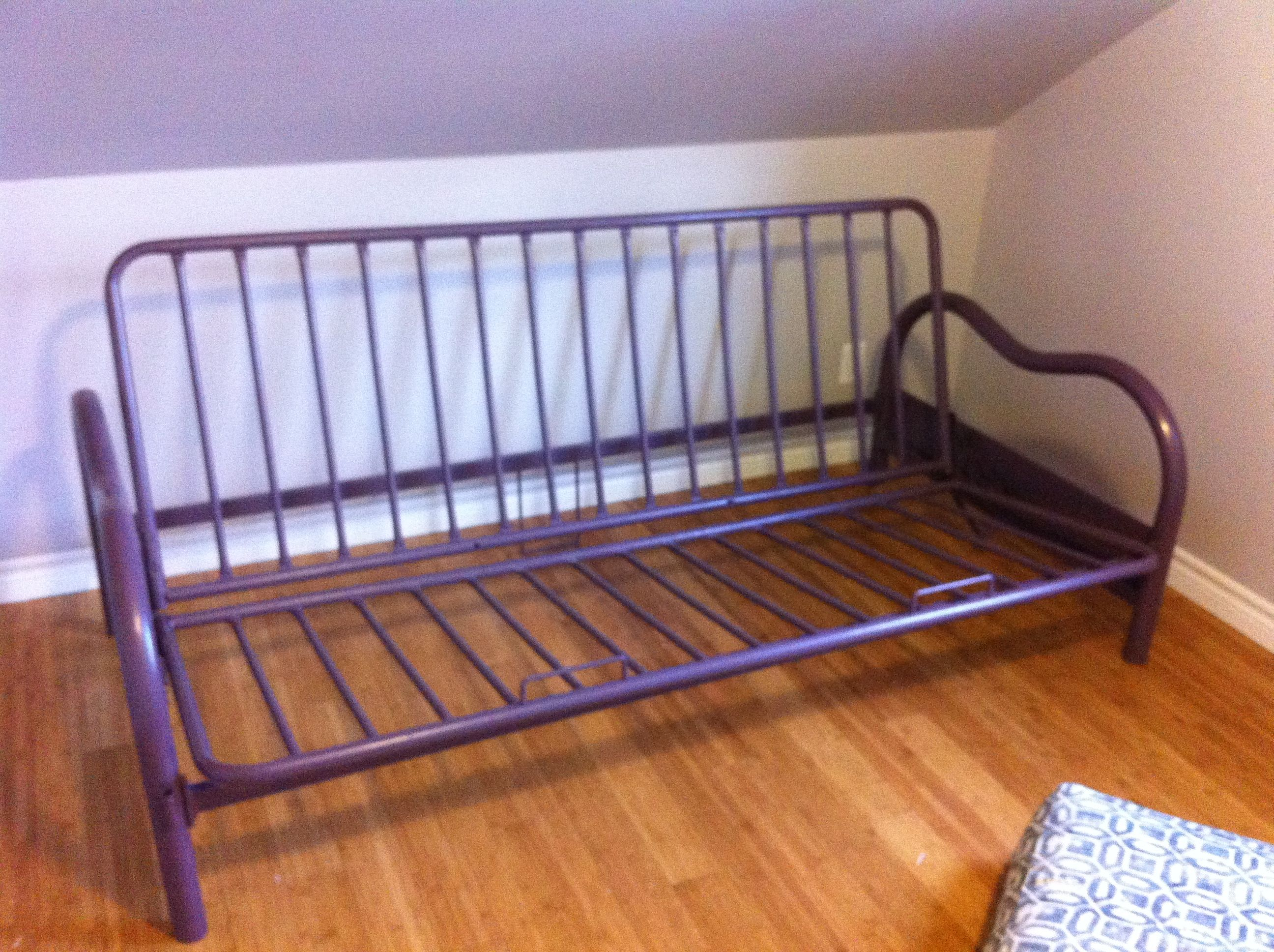Painted Futon Frame One Of My Garage Finds I Used Benjamin Moore Aqualock