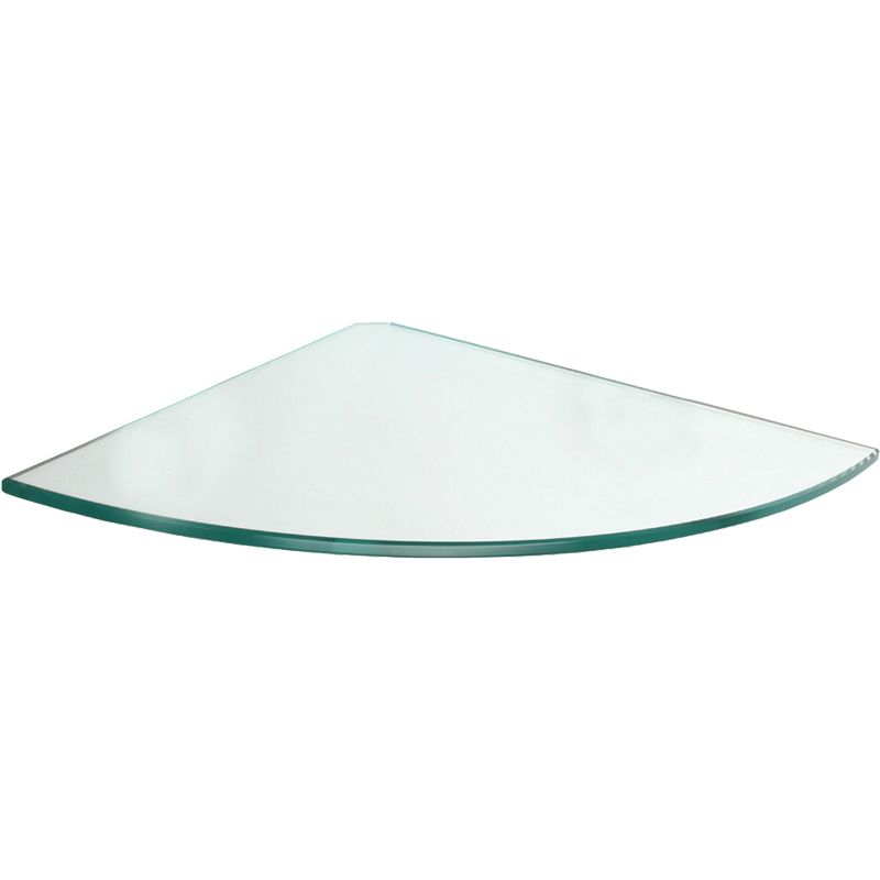 GLASSLINE Clear Glass Corner Shelf - 11.75\