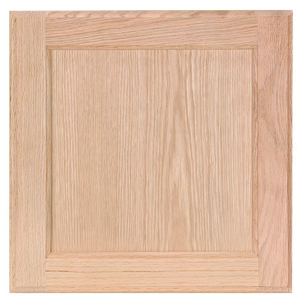 Null 12 75x14 In Cabinet Door Sample In Unfinished Oak Cabinet