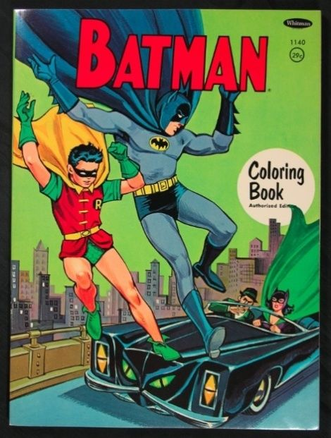 1967 Batman Coloring Book From Whitman
