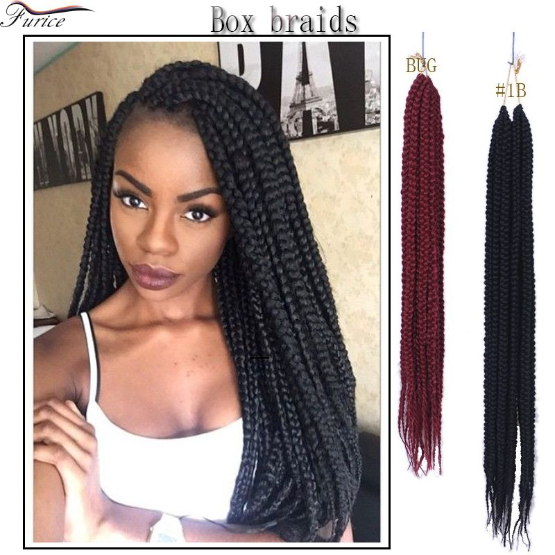 Big Box Braids Hairstyles Crotchet Hair Afro Kinky Curly Hair ...