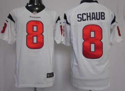 nike houston texans 8 matt schaub white limited jersey