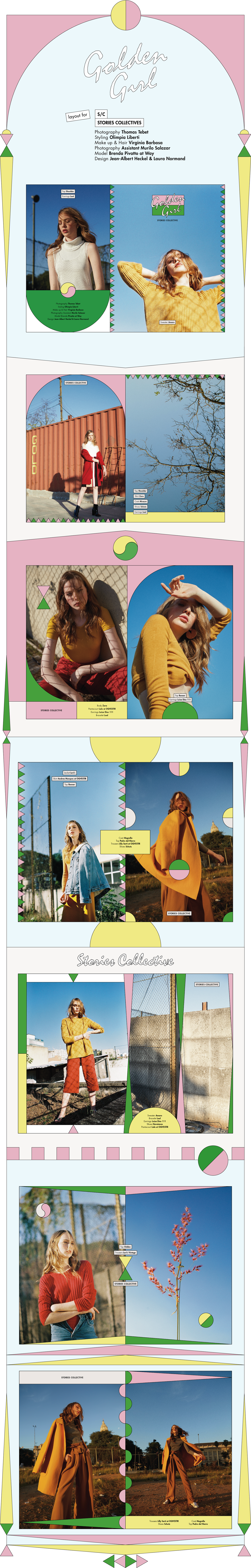 Golden girl stories collectives on behance graphic pinterest