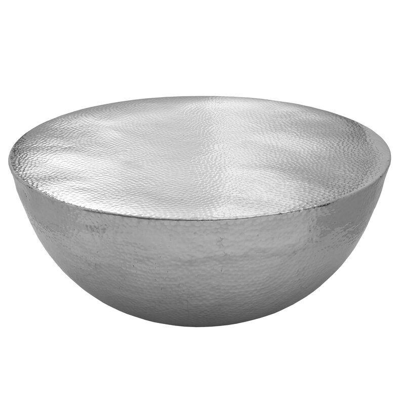 Batavia drum coffee table silver coffee table drum