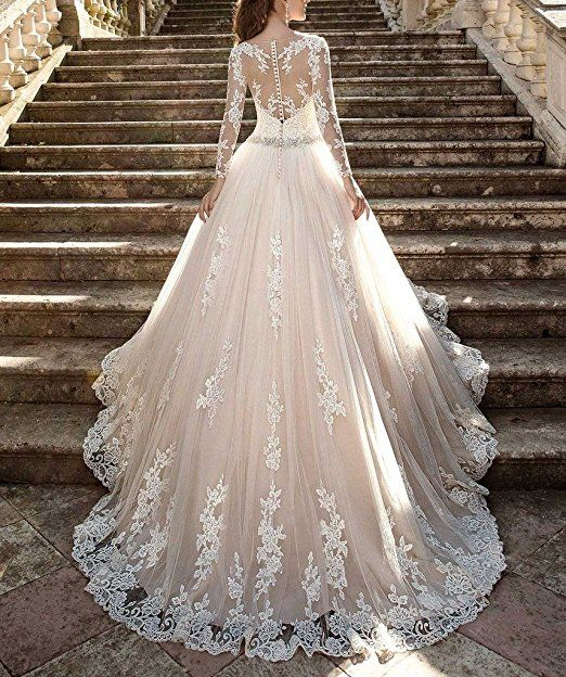 Cardol 2017 Womens Lace Wedding Dresses Bridal Gowns Long Sleeves Ball At Amazon Clothing Store