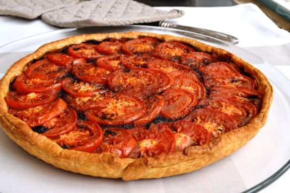 Tomato tart with tapenade from Cooking in Provence