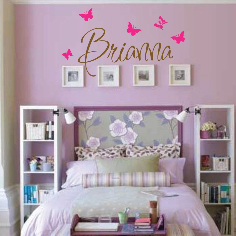 Monogram Decorations For Bedroom Brianna Wall Decal Girls Room Childrens Wall Decal Wall Art Custom