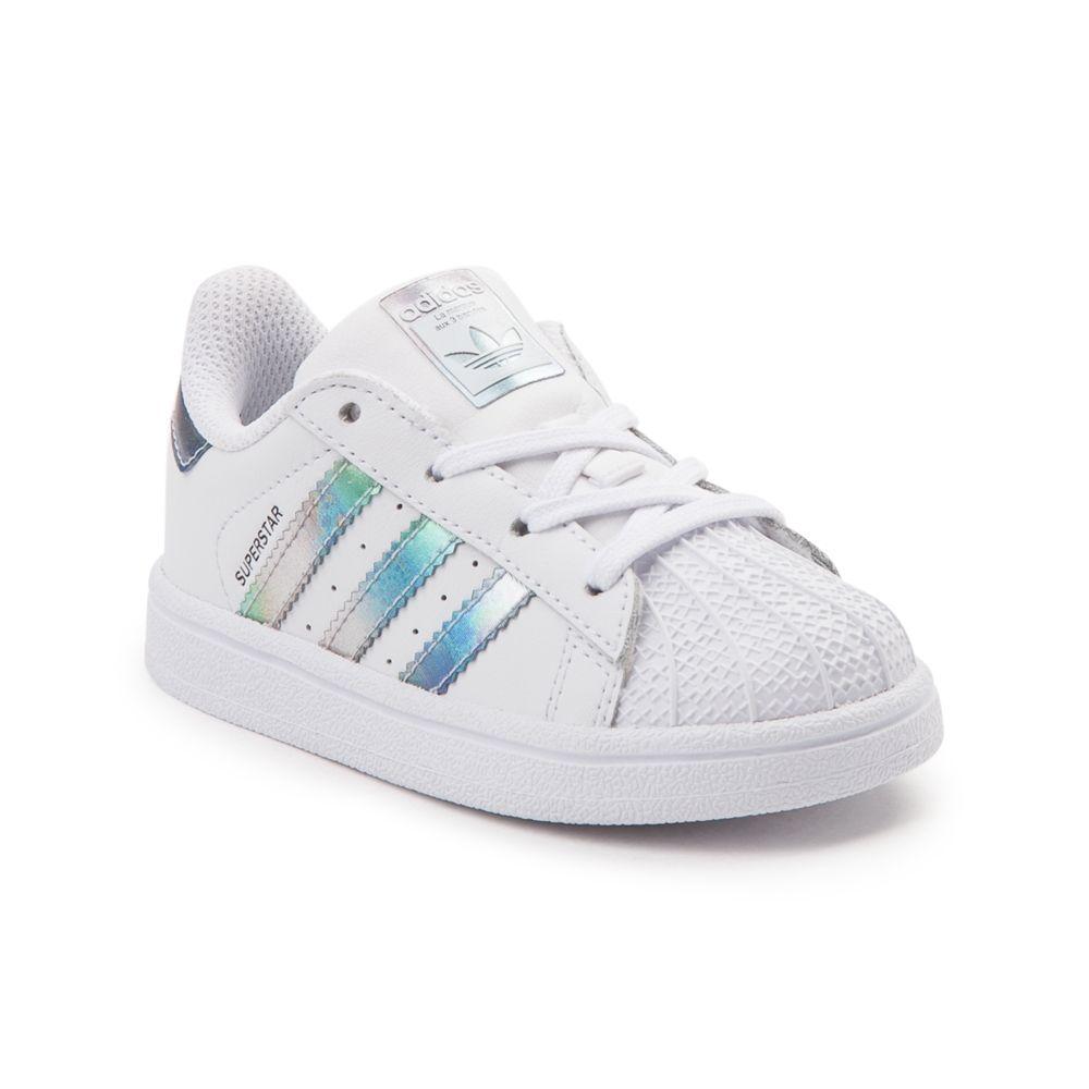 Toddler adidas Superstar Athletic Shoe - White/Metallic - 99436286 ...