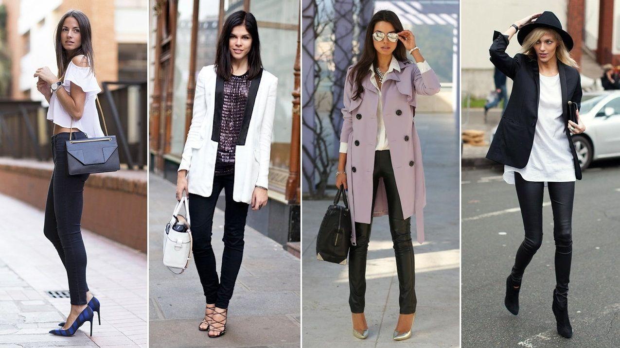 Czarne Rurki Moda Styl Fashion Style Inspiration Outfits