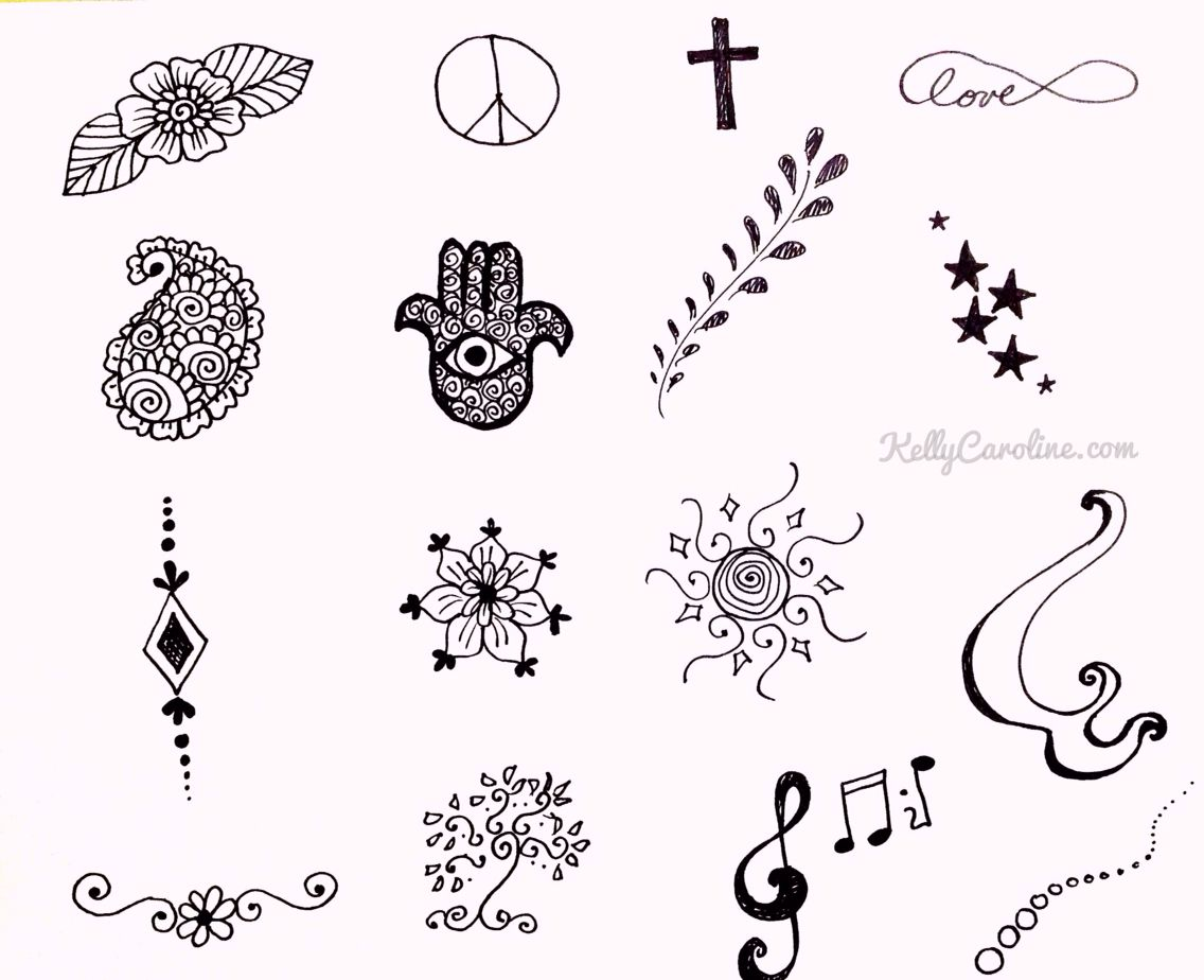 Pretty And Cute Small Henna Designs Beginner Henna Designs