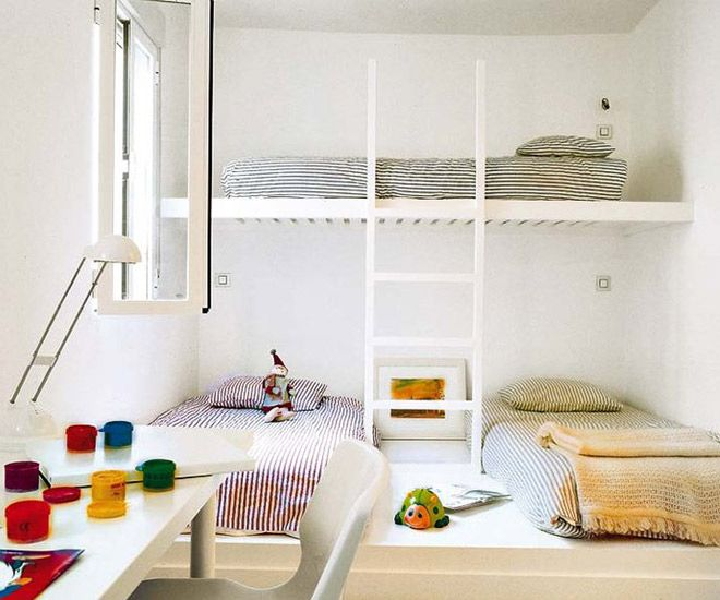 13 Clever Ways To Fit Three Kids In One Bedroom Bunk Beds