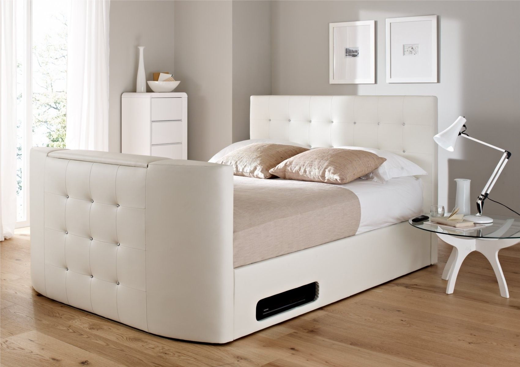 Cool Tv Bed With Storage Bedroom Decor Furniture Tv Beds Machost Co Dining Chair Design Ideas Machostcouk