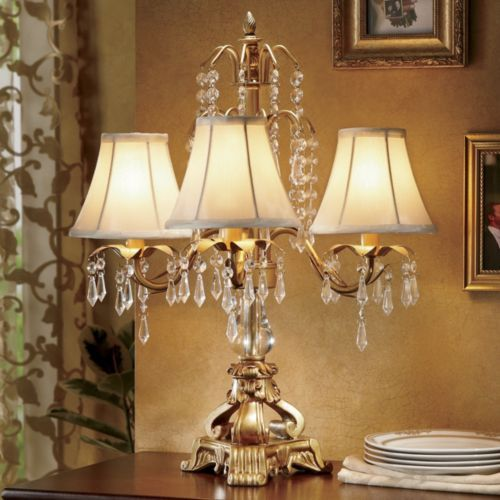 Gold ivory chandelier lamp