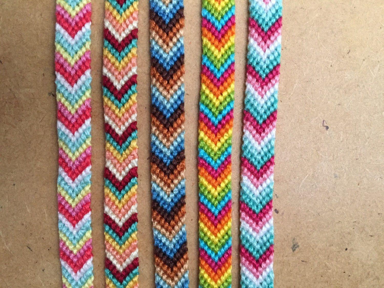 thin chevrons friendship bracelets variety of colors