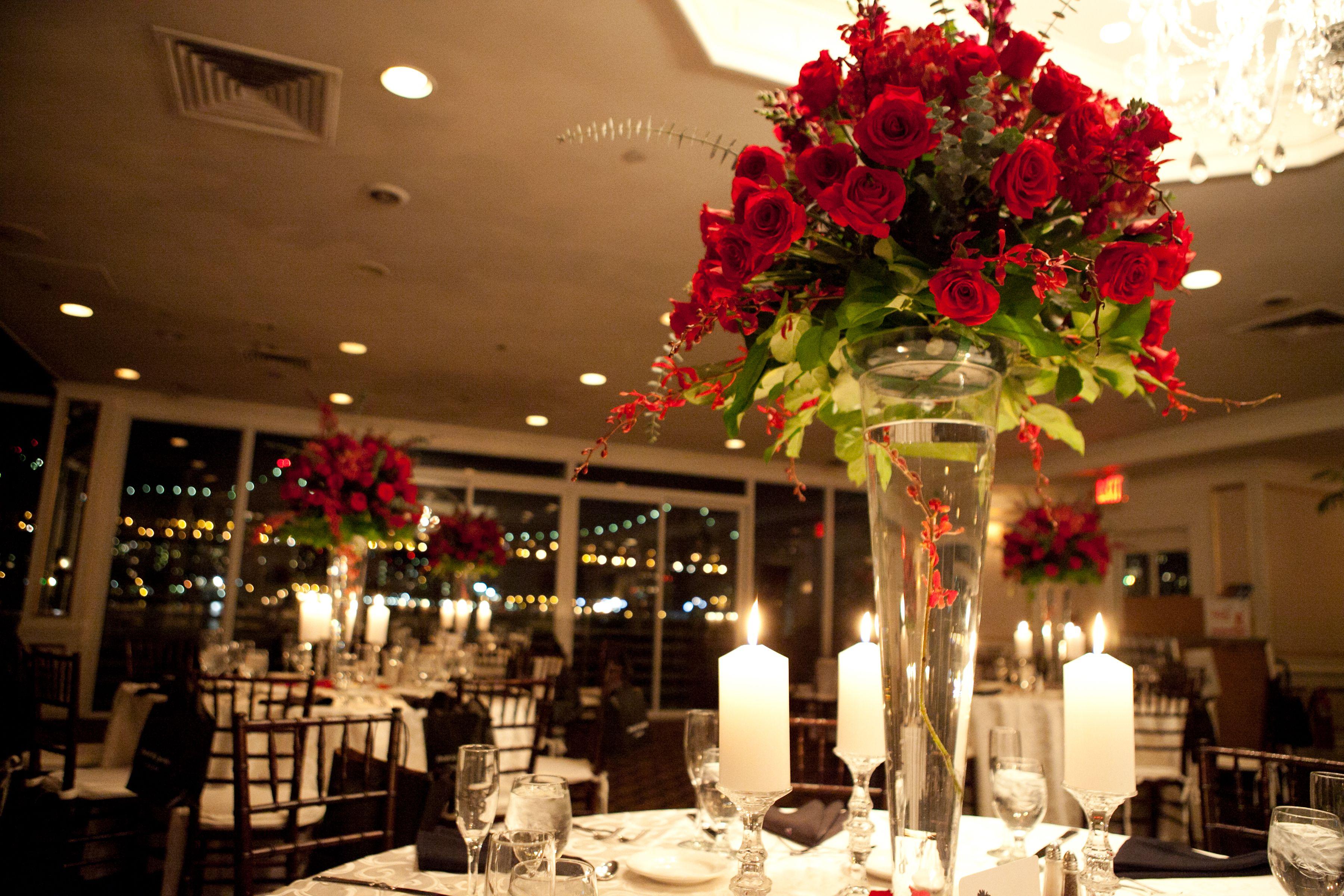 Classic Red Rose Centerpieces )