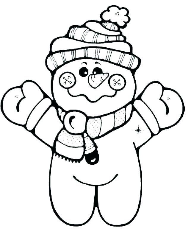 Cute Snowman Coloring Pages Ideas For Toddlers | Printable ...