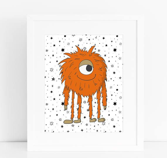 set of boys monster prints nursery print kids print kids room nursery wall art boys monster nursery monsters kids room - Monster Pictures For Kids To Print