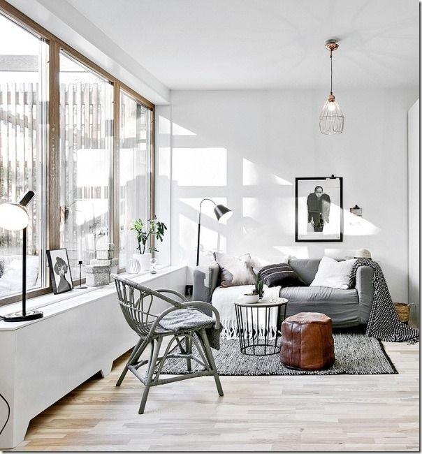 Decorare il tuo soggiorno con il bianco   Idee arredamento ...