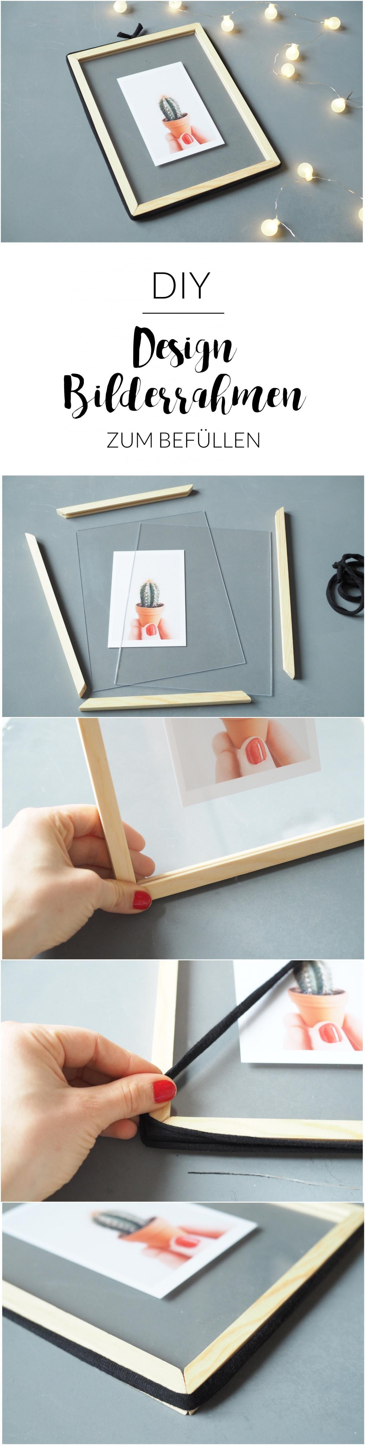 Diy design bilderrahmen zum bef llen diy bilderrahmen diy design und basteln - Selbstgemachte bilderrahmen ...