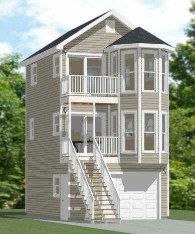 Two story tiny house tiny bouses pinterest tiny for Small two story house plans with garage