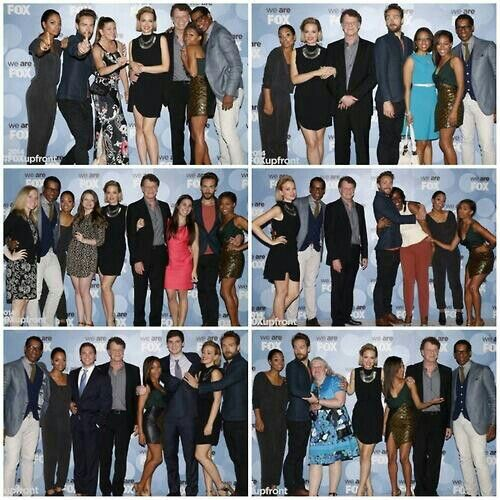 Sleepy cast photobombing other Fox shows. We are so proud. #StayClassy you guys! We love you.