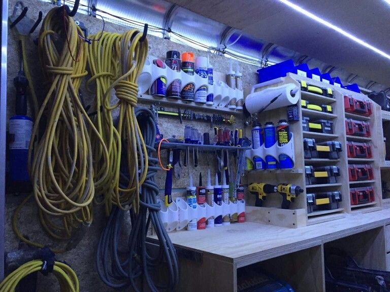 Man Cave Indoor Storage Knoxville : Nice can holders garage ideas man cave workshop