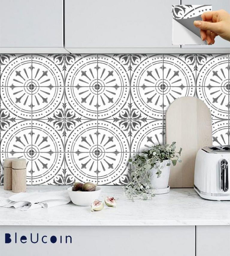 The Best Peel And Stick Vinyl Floor Tile Decals The Crazy Craft Lady In 2020 Flooring For Stairs Peel And Stick Floor Stick On Tiles