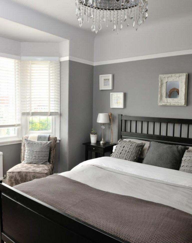 Graue Schlafzimmer Wandfarbe in 100 Beispielen Einrichten und - schlafzimmer deko bilder