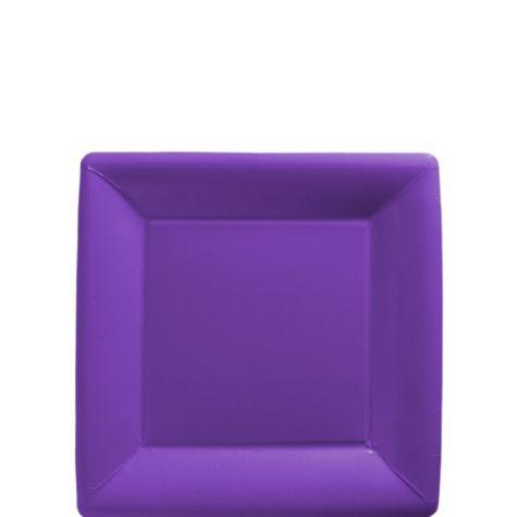 Purple Paper Square Dessert Plates 20ct - Paper Plastic Plates - Solid Color Tableware -  sc 1 st  Pinterest & Purple Paper Square Dessert Plates 20ct - Paper Plastic Plates ...