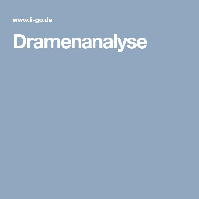 Dramenanalyse | Deutsch | Pinterest