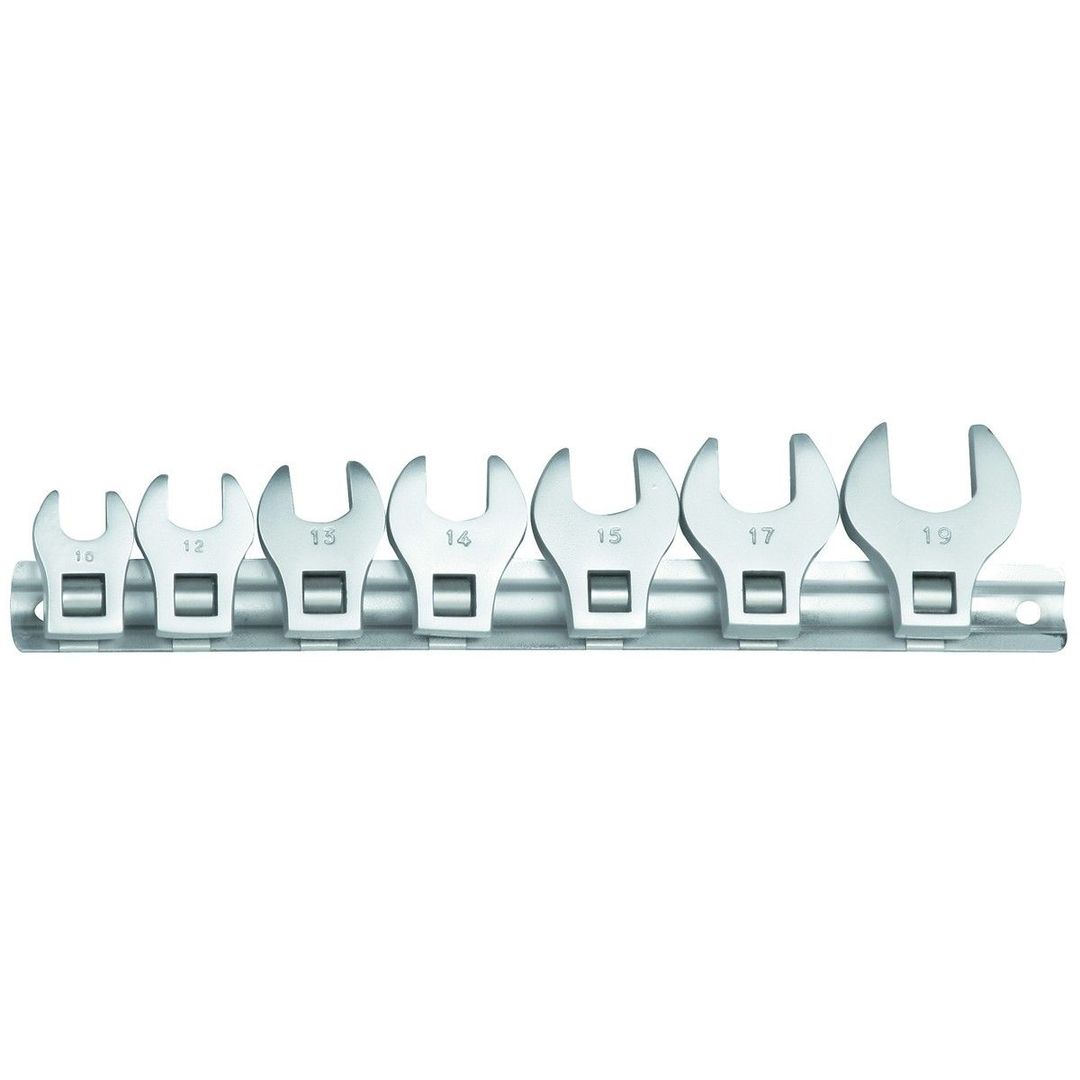 """7 Piece 3/8"""" Crowfoot SAE #WrenchSet"""