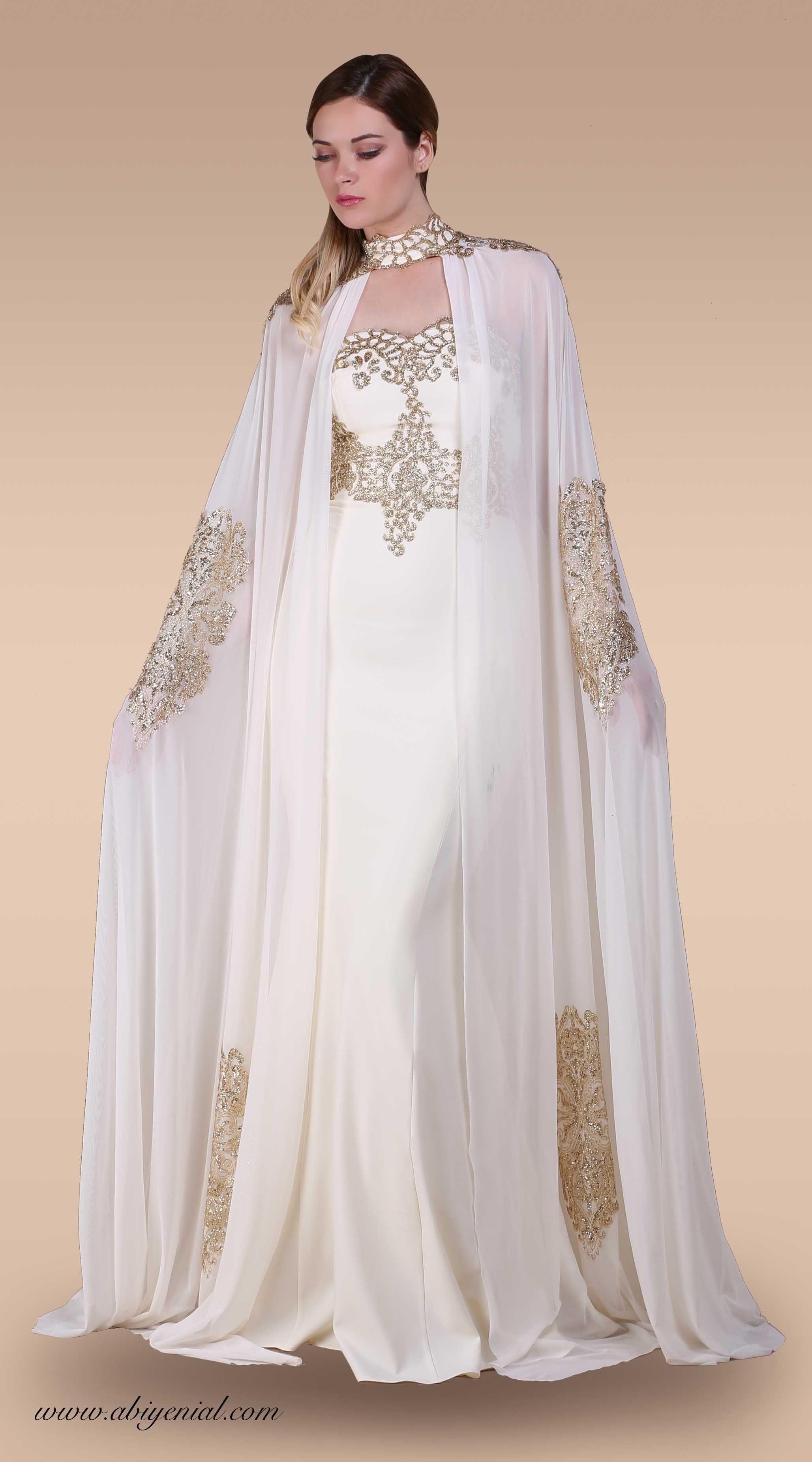 Sunnet Annesi Abiyesi Krem Abaya Tarzi Kiyafet Ust Giyim