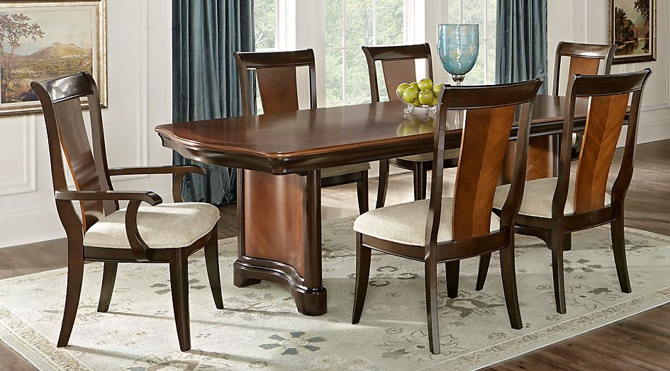 Dark Wood Dining Room Chairs Impressive Granby Merlot 5 Pc Rectangle Dining Room From Furniture  Chairs Design Inspiration