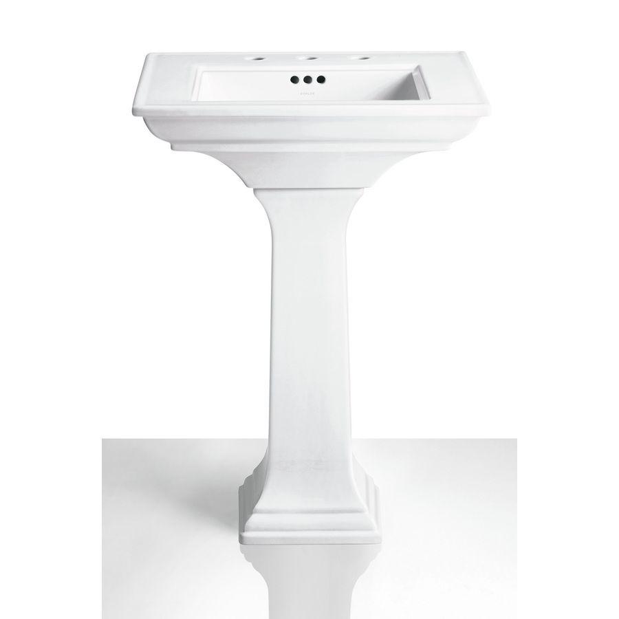 Shop KOHLER Memoirs 27.38-in H White Fireclay Pedestal Sink Base at ...