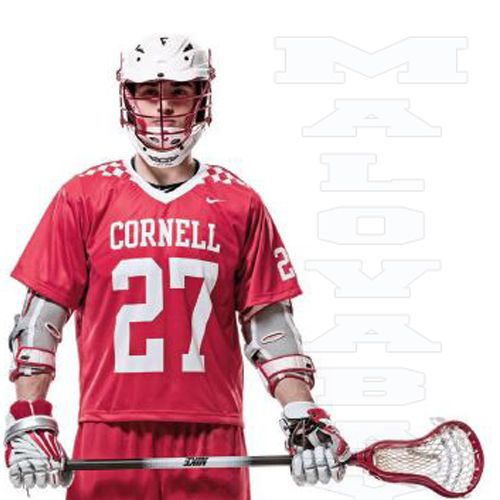 outlet store bb438 6aaca NIKE MENS Flow II LACROSSE LARGE CORNELL JERSEY RED/WHITE ...