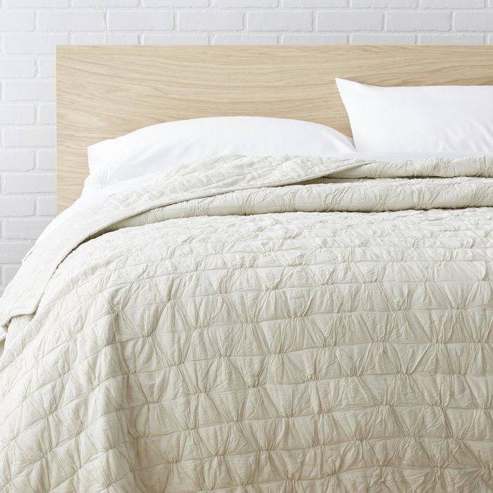 Bring subtle beauty to any bed with this lovely cotton quilt ... : the cotton quilt - Adamdwight.com