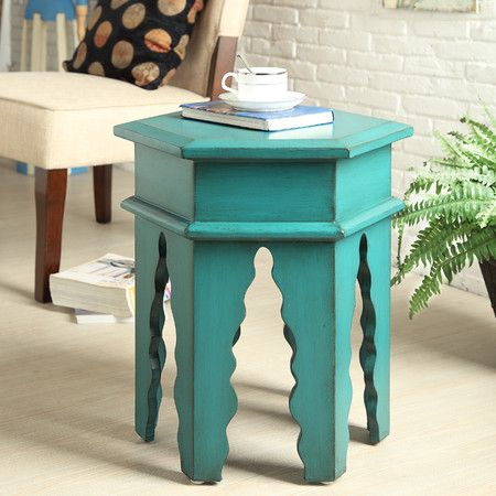 Finola Accent Table In Teal Coast To Coast On Joss And Main