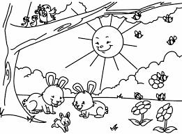 Resultado De Imagen Para Dibujo Paisaje Infantil Paisajes Primaverales Paginas Para Colorear Para Ninos Dibujos Para Colorear Primavera
