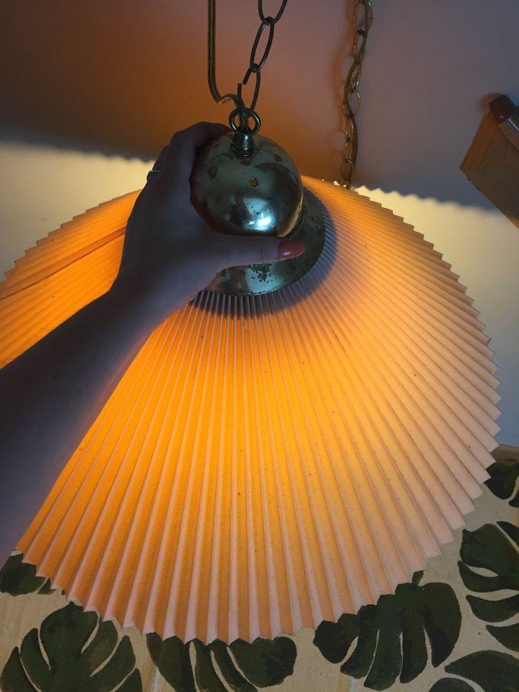 Vintage Underwriters Lab PORTABLE SWAG CEILING LAMP