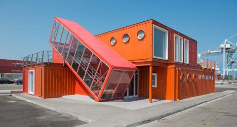 Shipping Container for Israeli port office by Potash Architects - see more on blog