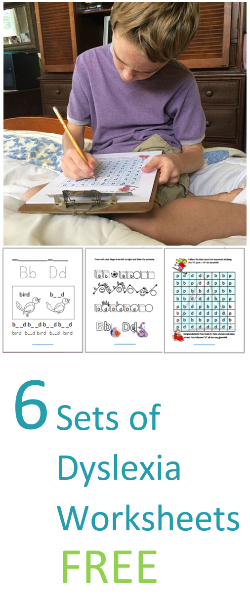 Six Sets Dyslexia Worksheets - Kinesthetic and Dyslexic ...