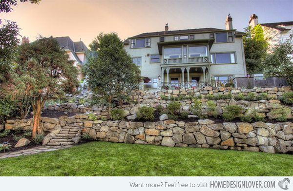 15 Hill Landscape Design Ideas Home Design Lover Sloped Backyard Landscaping Backyard Landscaping Sloped Backyard